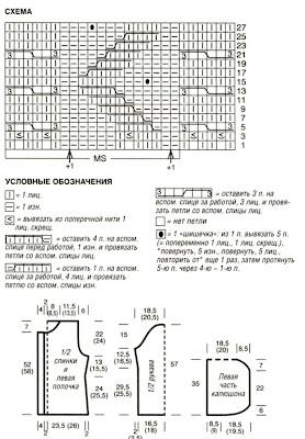 http://www.vyazemsami.ru// Жакет с пушистыми планками Схема