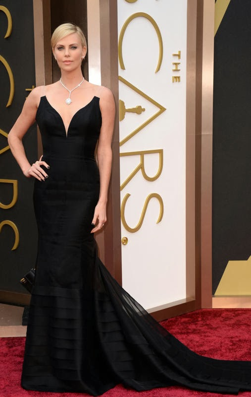 Oscars 2014 Red Carpet, Charlize Theron