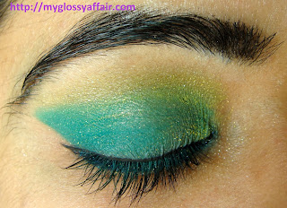 Celebrating Lohri & Makar Sankranti - Festive Green Yellow Eye Makeup Look