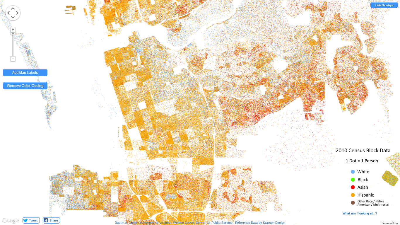 GeneaMusings The Interactive Racial Dot Map Of The United States - Us census dot map