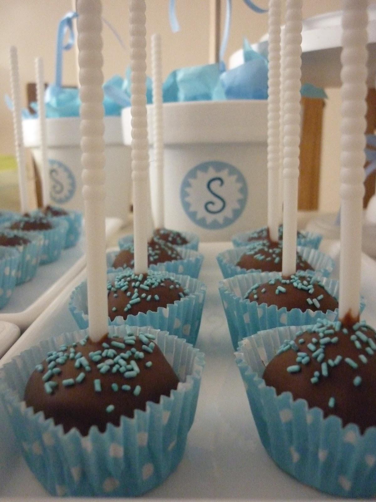 Muffins de la t a candy bar para bautismo y primer a o de santino - Decoracion para bautismo varon ...