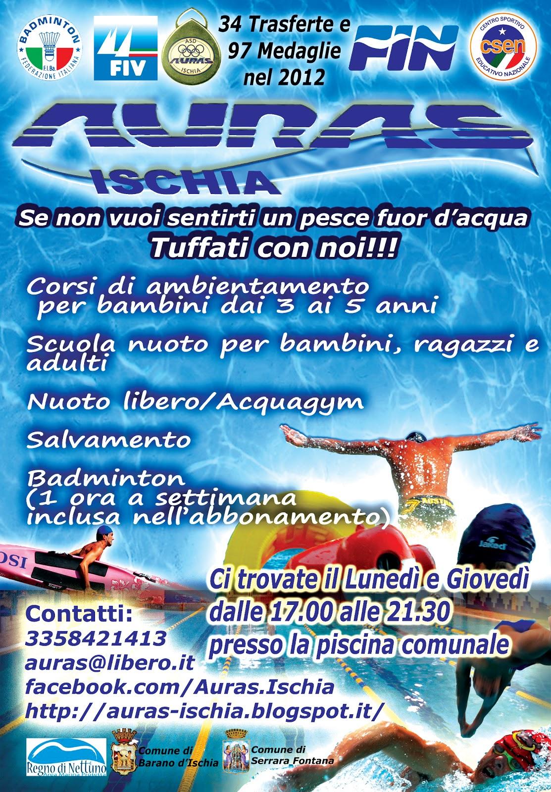 Auras ischia lunedi riapre la piscina comunale - Piscina trezzano sul naviglio nuoto libero ...