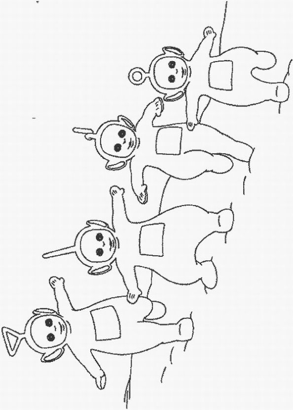 Teletubby Coloring Page Free