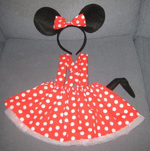 Molde para hacer vestido de Minnie - Imagui