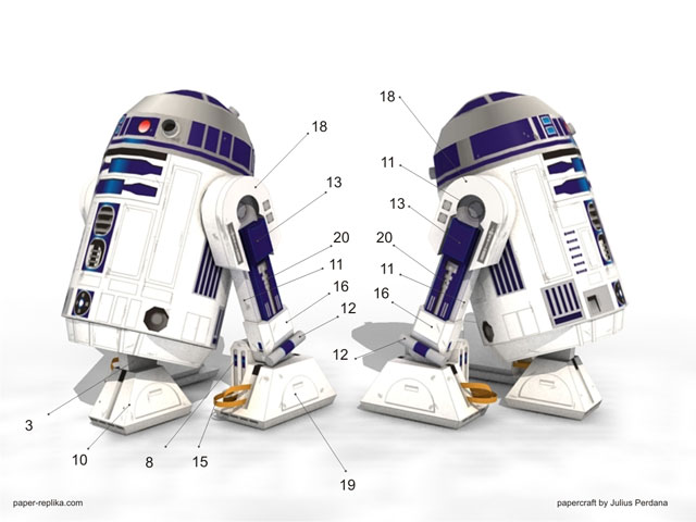 papercraft instruction r2 d2 starwars web wanderers. Black Bedroom Furniture Sets. Home Design Ideas