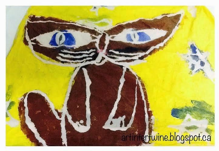 Art Intertwine - Glue Batik Klee Cat and Bird