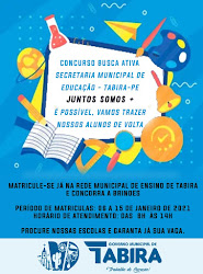 SECRETARIA DE EDUCAÇÃO  PREFEITURA M. DE TABIRA