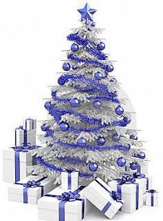 pohon natal, pohon natal bagus, pohon natal putih, pohon natal biru, desain pohon natal