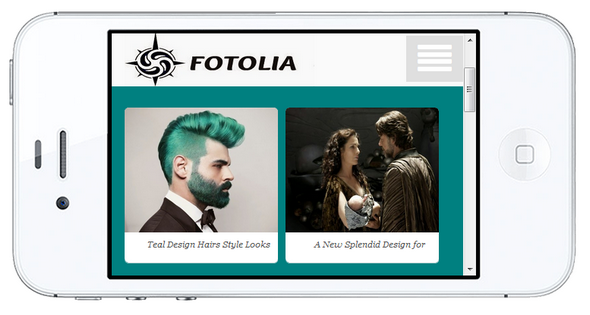 Fotolia Mobile Blogger Template