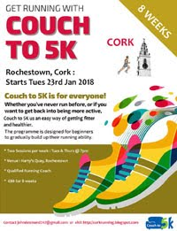 Couch to 5k starting in Rochestown on Tues 23rd Jan 2018