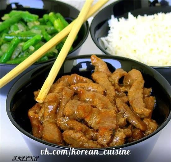 Мясо по-корейски с овощами рецепт с пошагово