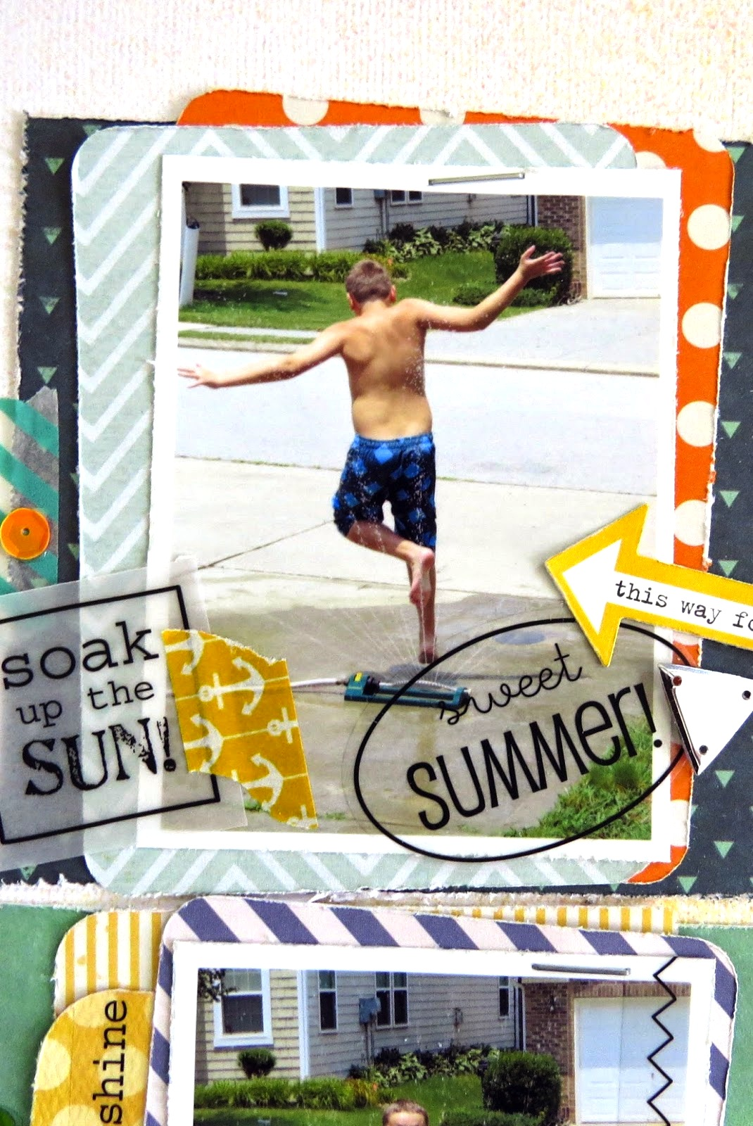 SRM Stickers Blog - Happy Summer by Shannon - #layout #summer #borders #stickers #stitches #water