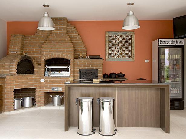 decorar cozinha rustica:NA ESTANTE design: Espa?os gourmet.