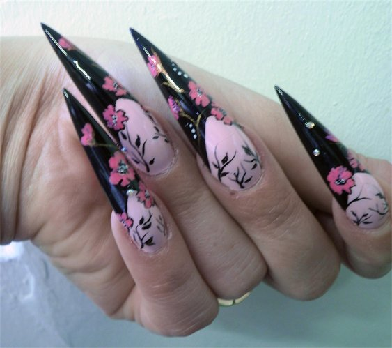 Nail Designs Long Acrylic Nails Nail Art Designs