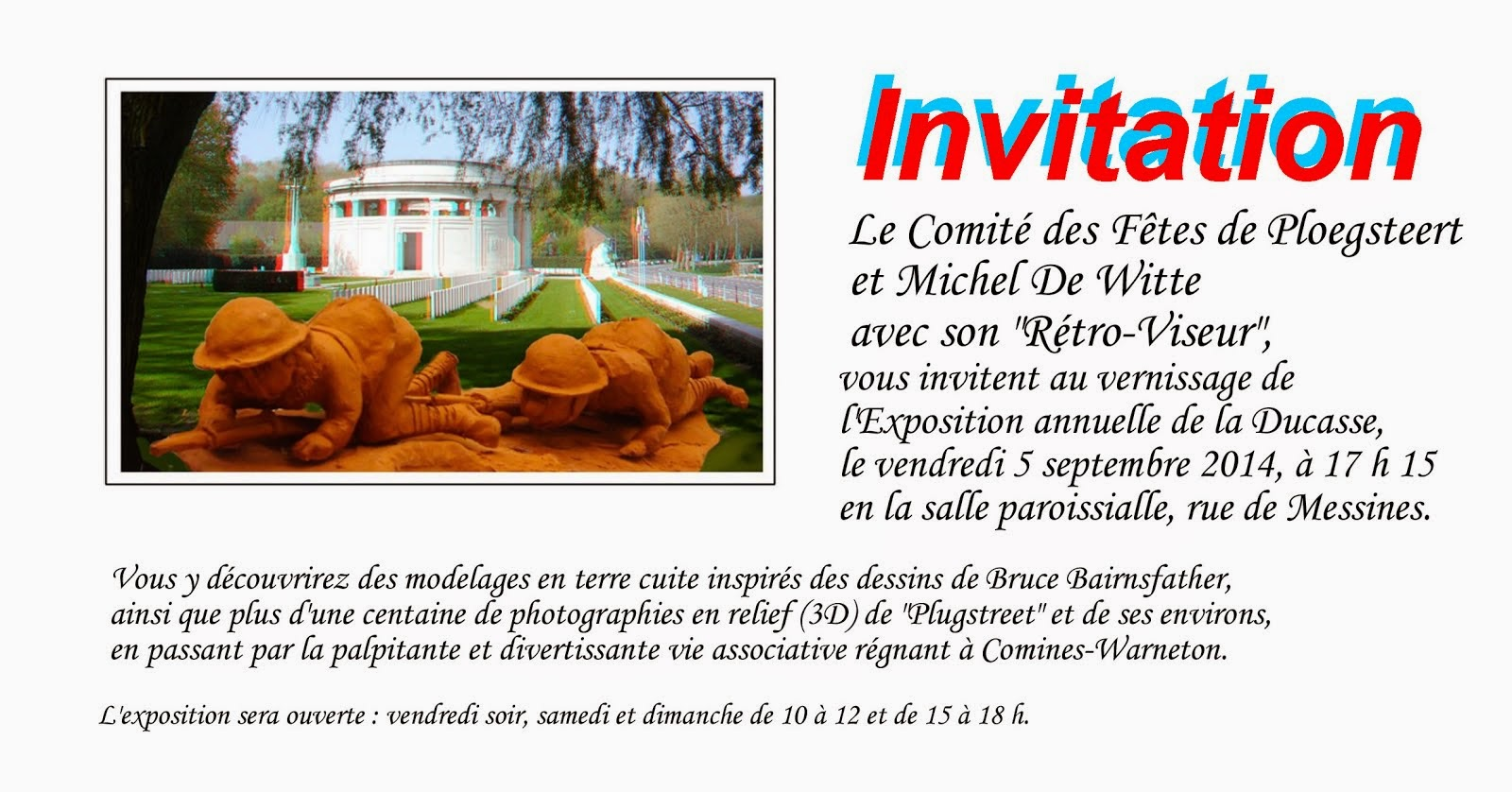 5 SEPTEMBRE VERNISSAGE DE L'EXPOSITION DE MICHEL DE WITTE.