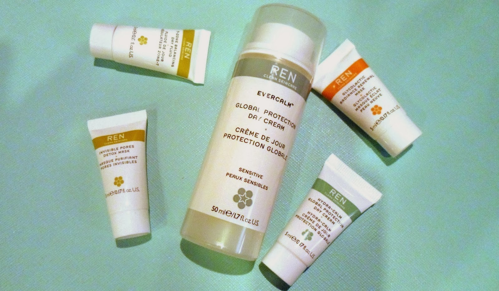REN SKINCARE MOISTURISER AND SAMPLES
