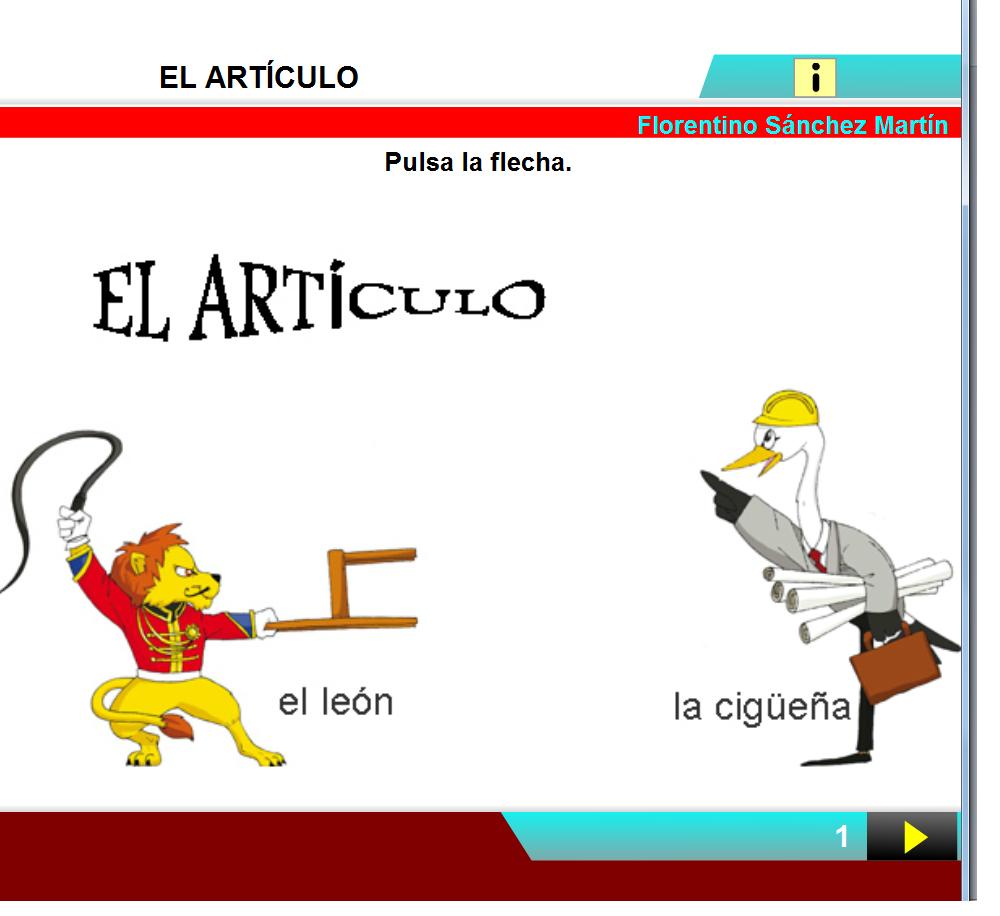 http://cplosangeles.juntaextremadura.net/web/edilim/curso_3/lengua/el_articulo_3/el_articulo_3.html