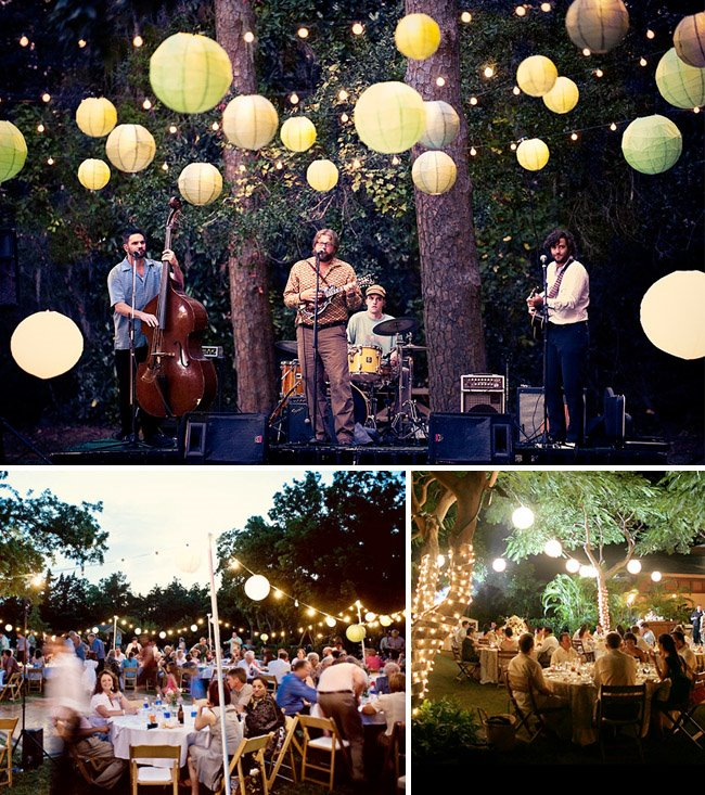 Lighting For Backyard Party : Wedding Preparation Backyard Wedding Ideas