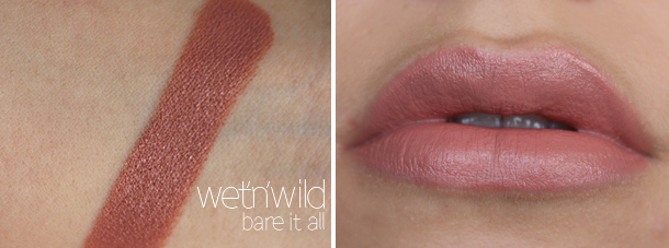 wet n wild bare it all lipstick review nude lipsticks drugstore swatch