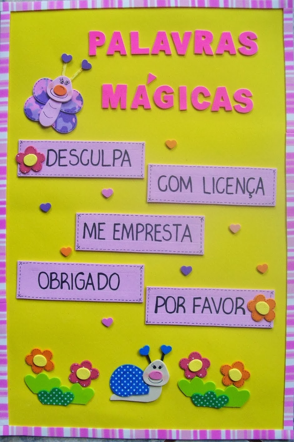 Excepcional Ensinando com Carinho: Palavras Mágicas em EVA NX06