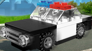 Free Lego City Police Car Mini Build