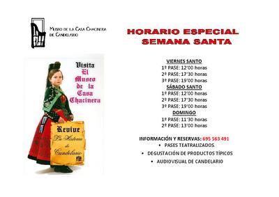 Horario de Semana Santa 2012 del Museo de Candelario Salamanca