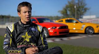Tanner Foust drift the 2013 Mustang