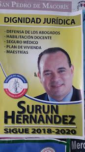 Surun Hernandez presidente del Colegio de Abogados de RD.