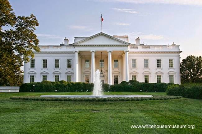 Mansion of neoclassical architectural - White House - United States