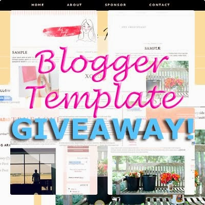 ENTER MY *BLOGGER BLOG TEMPLATE* *GIVEAWAY* - OPEN INTERNATIONALLY