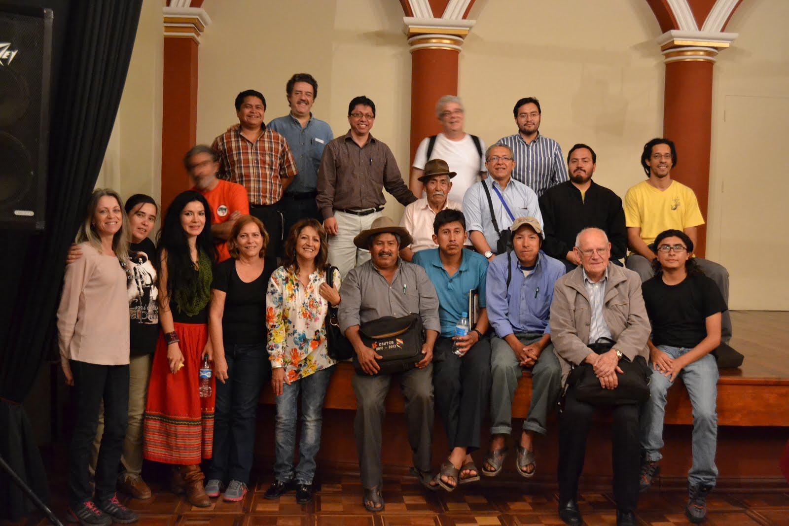 Con colegas del GT Desarrollo Rural de CLACSO y compañeros del Movimiento Indígena y Campesino