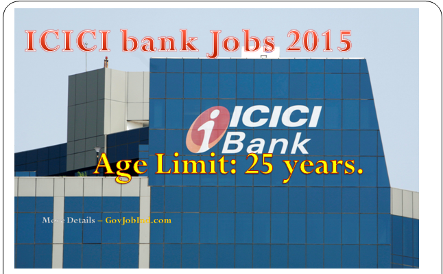 ICICI Bank Recruitment PO 2015 Probationary Officer Apply