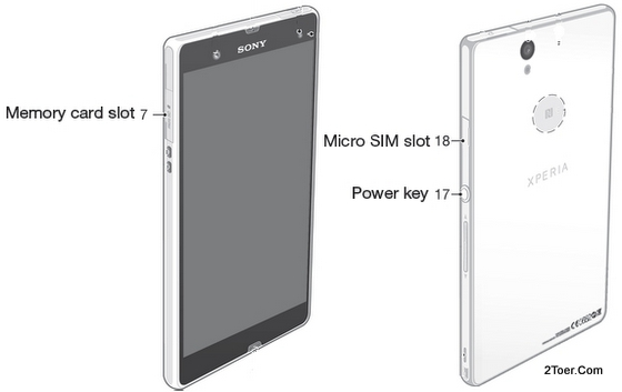 Memory Card Slot micro SIM locations Sony Xperia Z C6603 C6602