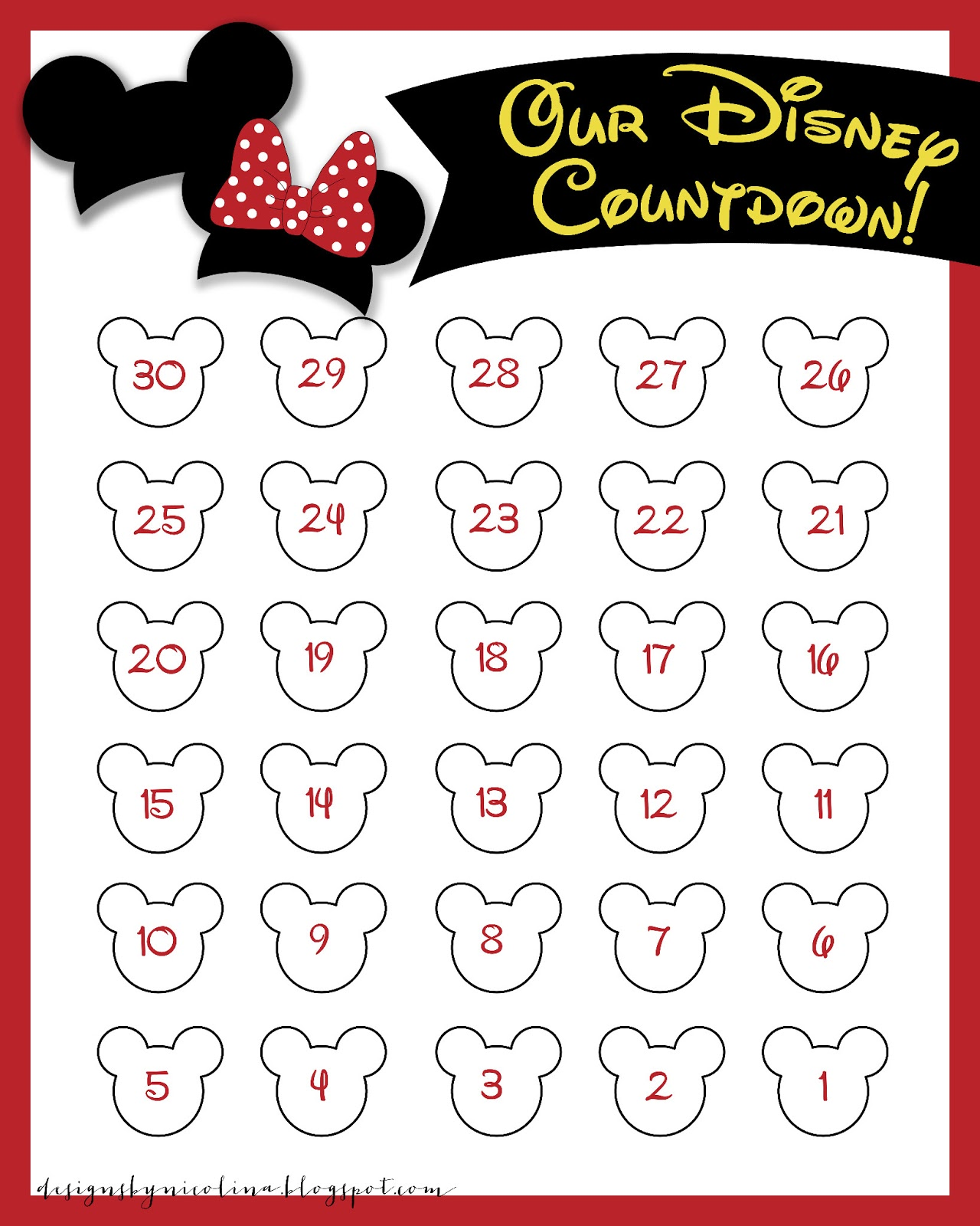 Hilaire image pertaining to countdown printable