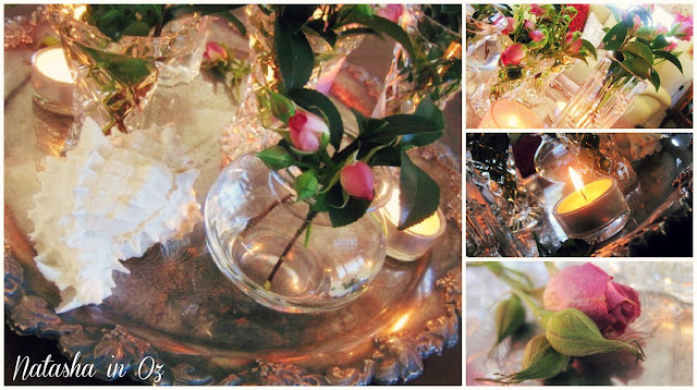 Say G'Day Saturday Linky Party, Seasonal Decorating Ideas using Nature, Candles, Natasha in Oz
