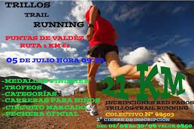 21k Trillos trail running (Puntas de Valdez, San José, 05/jul/2015)