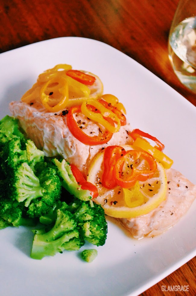 Salmon with white wine recipe