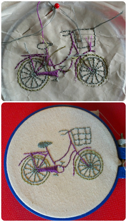 craftypainter: Etsy Craft Party - Bicycle Embroidery