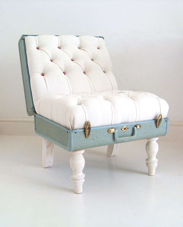vintage suitcase chair pet bed d i y gramkin paper studio