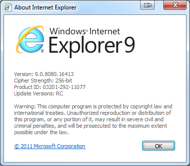 download Internet Explorer 9 RC za Windows 7 32-bit i 64-bit