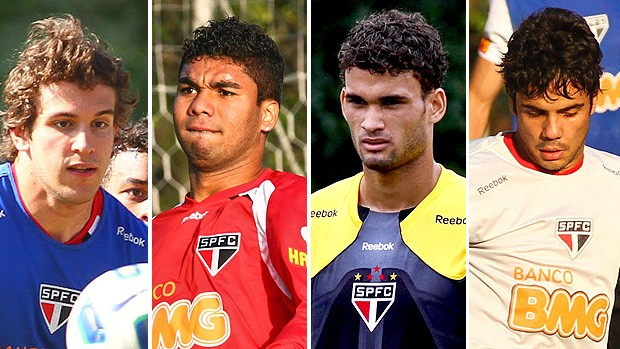 Jovens promessas do São Paulo, Casemiro, Willian José, Henrique e Bruno Uvini