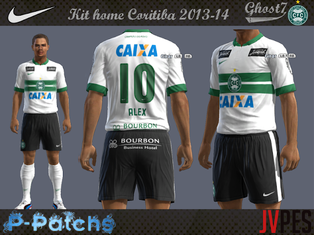 Kit home Coritiba 2013/14 - PES 2013
