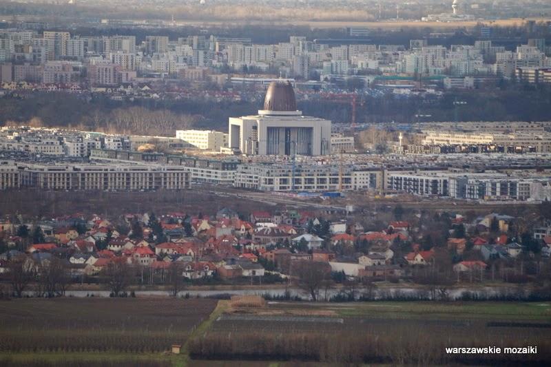 Warszawa miasto z lotu ptaka panorama miasta stolica Wilanów