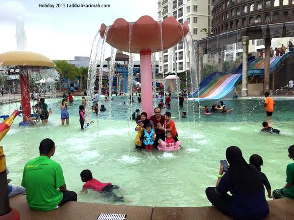 Seharian mandi main air di Bayou Lagoon Resort Melaka