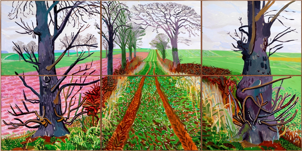 The style examiner david hockney s a bigger picture for David hockney painting