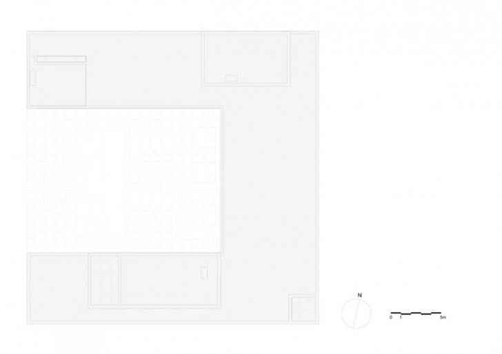 Roof plan of Minimalist Home by Beel & Achtergael Architects