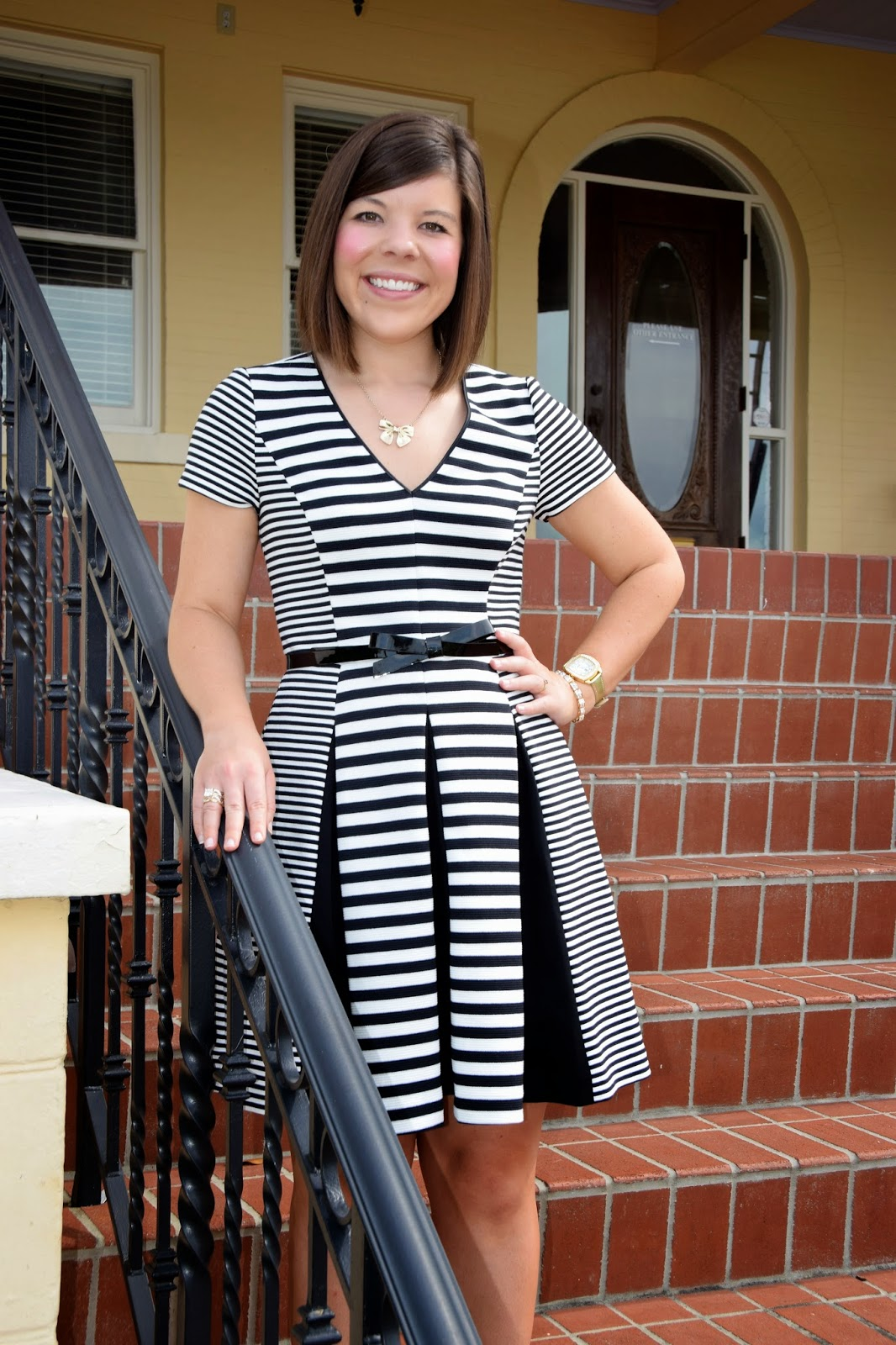Workweek Chic: Black and White with Bows All Over