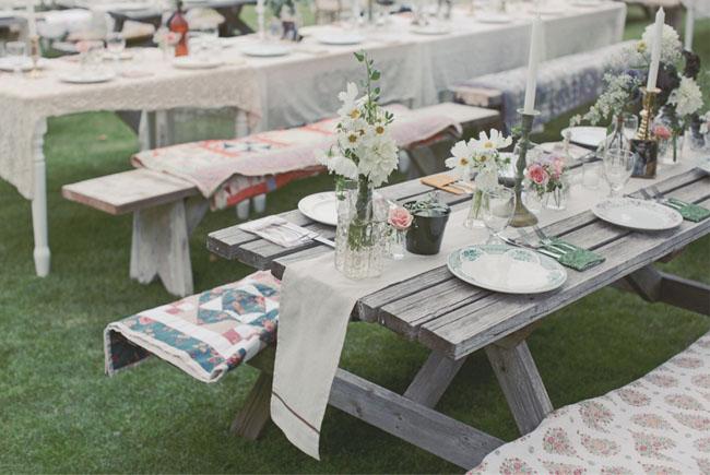 Una boda estilo picnic en el bosque - Lucio barcelona decoracion ...