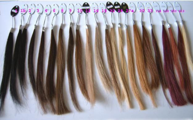Tipos de colores de cabello natural