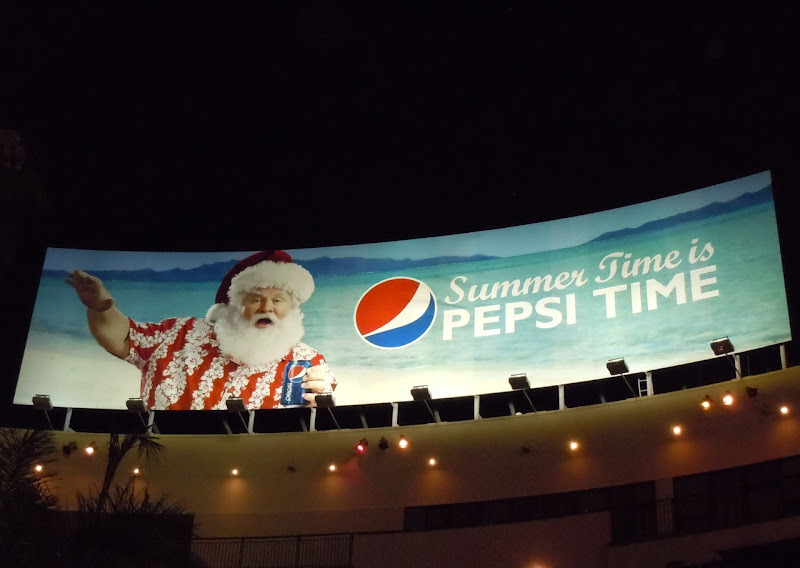 Summer Santa Pepsi billboard